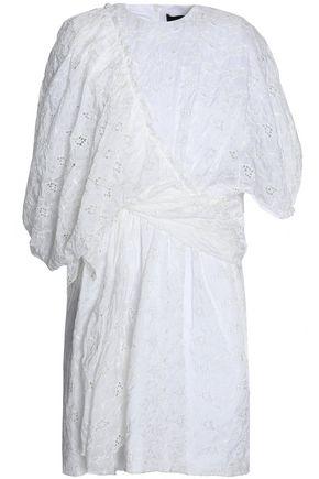 SIMONE ROCHA Asymmetric broderie anglaise cotton-blend shell dress