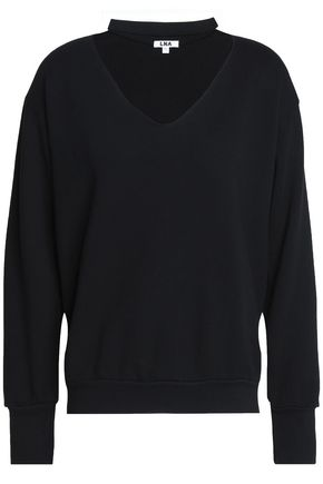 LNA Cutout dégradé cotton-blend jersey sweatshirt