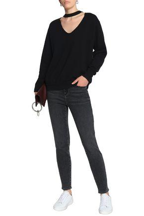 LNA Cutout dégradé cotton-blend jersey sweatshirt