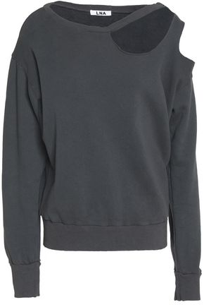 LNA Cutout French cotton-terry sweatshirt