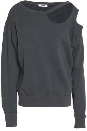 LNA Cutout French cotton-terry sweatshirt