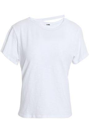 LNA Cutout cotton-jersey T-shirt