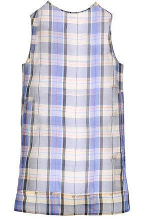 MARNI Checked silk-organza tank