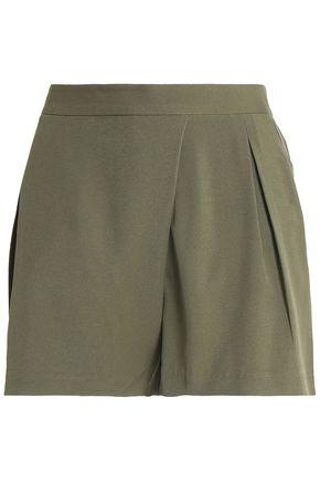 HALSTON HERITAGE Pleated twill shorts