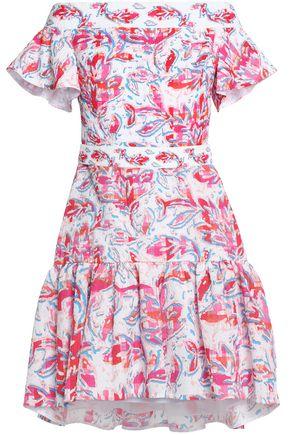 PETER PILOTTO Off-the-shoulder printed cloqué mini dress