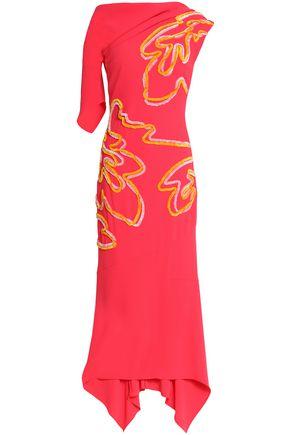 ANCIENT GREEK SANDALS x PETER PILOTTO Asymmetric appliquéd crepe gown