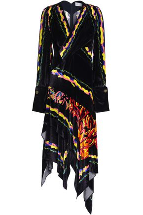 PETER PILOTTO Wrap-effect printed velvet dress
