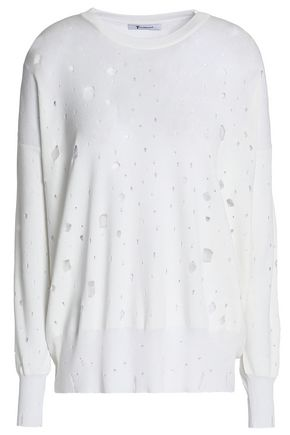 ALEXANDERWANG.T Distressed terry sweatshirt