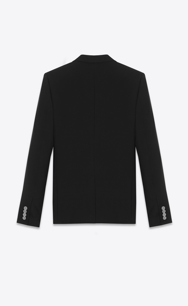 SAINT LAURENT Blazer Jacket Man single-breasted jacket in black gabardine b_V4