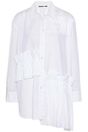 McQ Alexander McQueen Ruffled cotton-poplin shirt