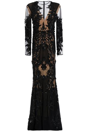 ZUHAIR MURAD Embellished organza gown