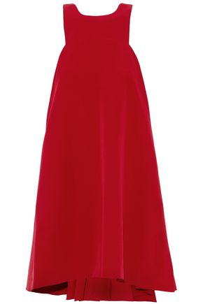 WOMAN FLUTED CADY MINI DRESS RED