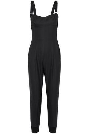 MAX MARA Mary satin-trimmed wool-blend jumpsuit