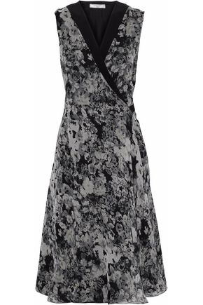 LANVIN Floral-print silk-chiffon wrap dress