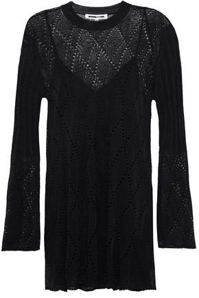 McQ Alexander McQueen Pointelle-knit wool-blend dress