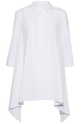 MAX MARA Solista asymmetric cotton-poplin top