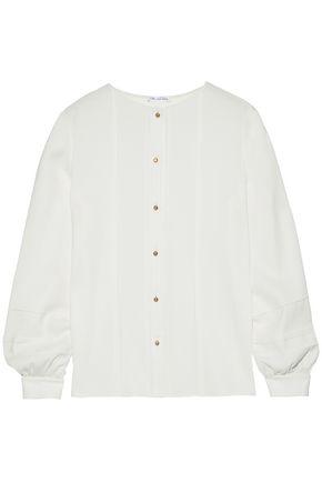 OSCAR DE LA RENTA Stretch-silk shirt