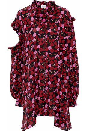 MAGDA BUTRYM Amman cutout floral-print silk crepe de chine mini dress