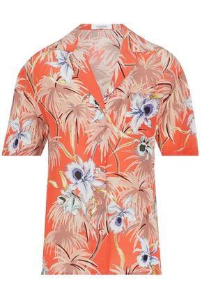 VALENTINO Printed silk-crepe de chine top