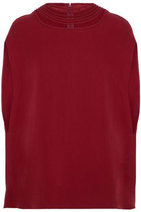 VALENTINO Cutout silk-crepe blouse
