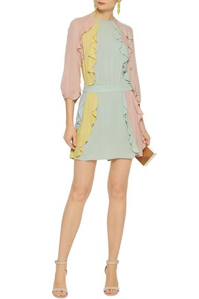 Dress for Women, Evening Cocktail Party On Sale in Outlet, Yellow, Silk, 2017, 10 Valentino