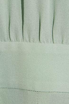 VALENTINO Ruffled silk-gauze playsuit