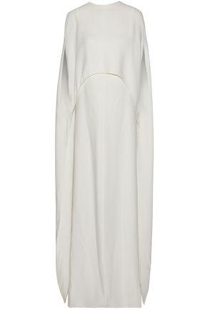 VALENTINO Cape-back silk gown