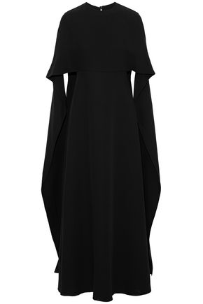 VALENTINO Draped silk-crepe maxi dress