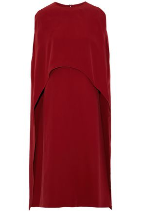 VALENTINO Cape-effect silk-crepe midi dress
