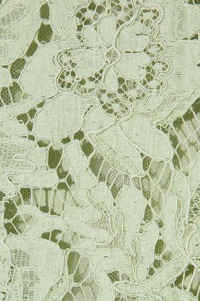 VALENTINO Layered stretch-silk corded lace dress