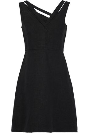 VALENTINO Cutout linen mini dress