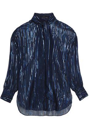 BY MALENE BIRGER Metallic fil coupé silk-blend chiffon blouse