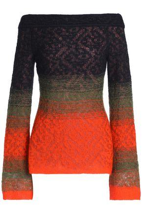 ANCIENT GREEK SANDALS x PETER PILOTTO Off-the-shoulder dégradé open-knit sweater
