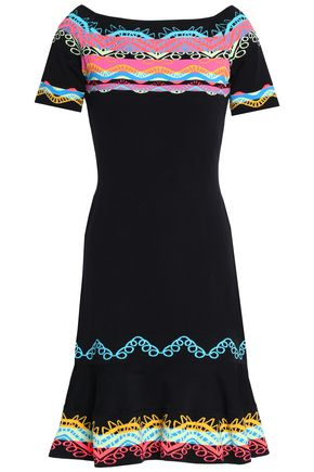 PETER PILOTTO Fluted jacquard-knit dress