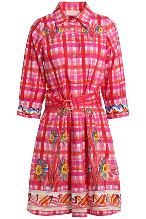 PETER PILOTTO Printed cotton-poplin shirt dress