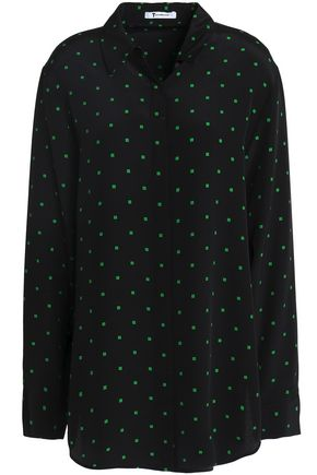 T by ALEXANDER WANG Polka-dot silk shirt