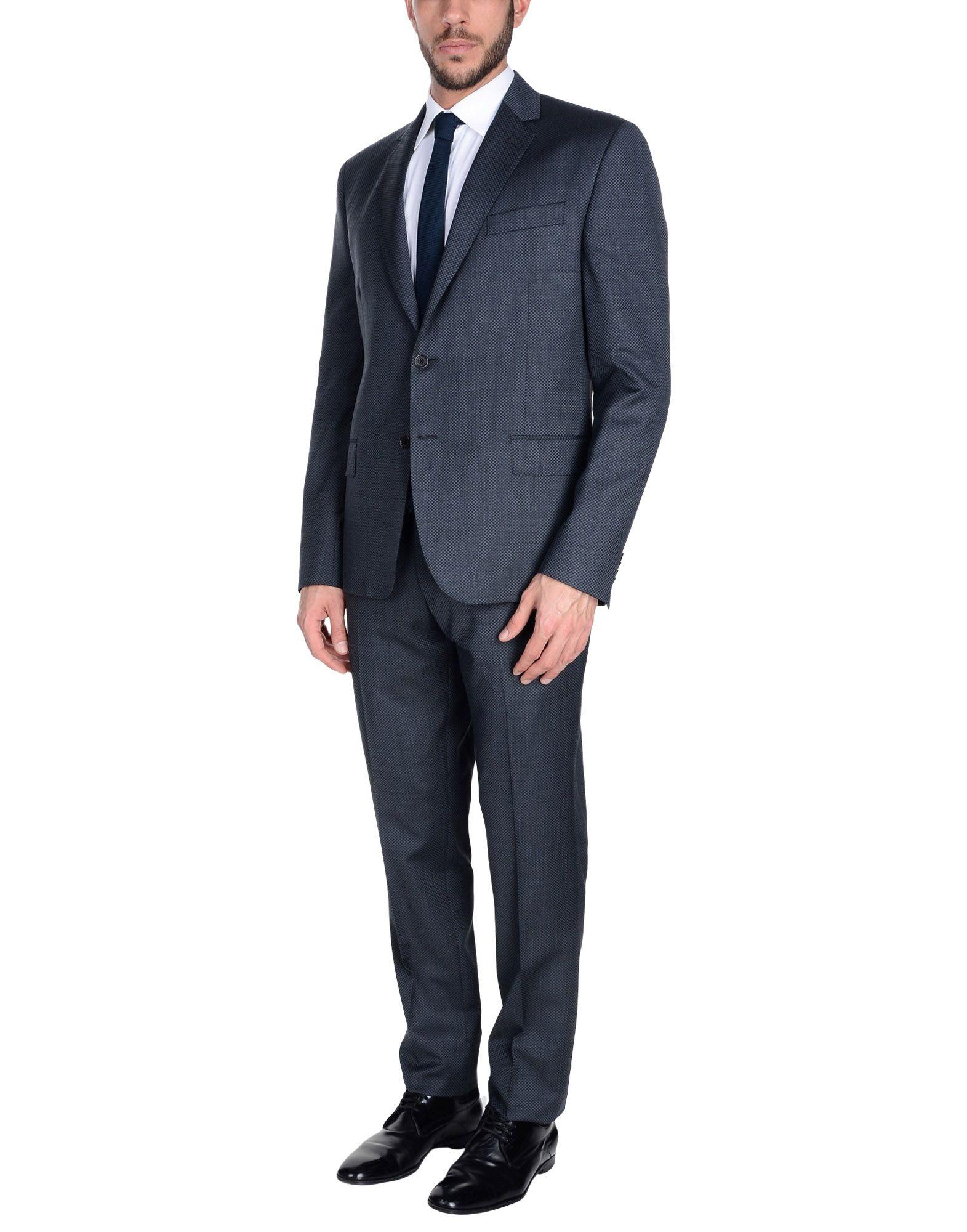 《送料無料》PIERRE BALMAIN メンズ スーツ ダークブルー 48 バージンウール 100%
