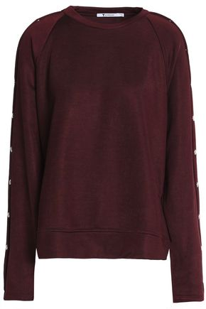 T by ALEXANDER WANG Snap-detailed terry sweatshirt
