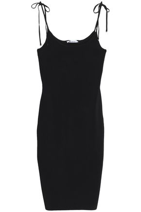 T by ALEXANDER WANG Ribbed-knit slip dress