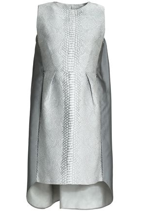 SAFIYAA Metallic paneled duchesse-satin and jacquard mini dress