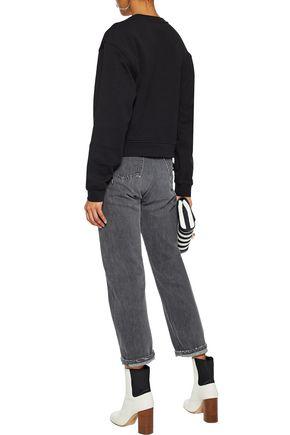 McQ Alexander McQueen Lace-up cotton-jersey sweatshirt