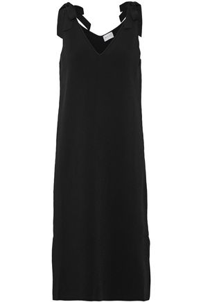 MILLY Bow-detailed stretch-knit dress