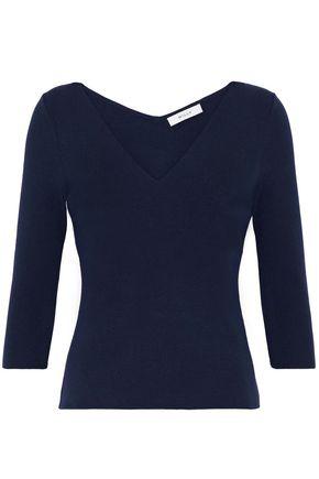 MILLY Mélange stretch-knit top