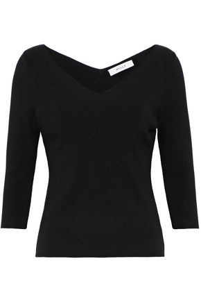 MILLY Mélange stretch-knit top