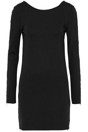 McQ Alexander McQueen Eyelet-embellished stretch-knit mini dress