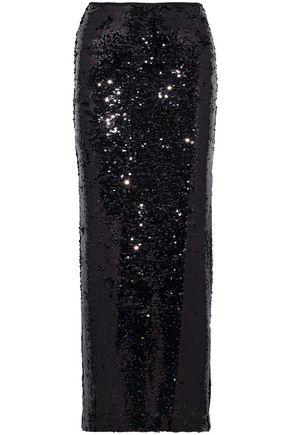 McQ Alexander McQueen Sequined mesh maxi skirt