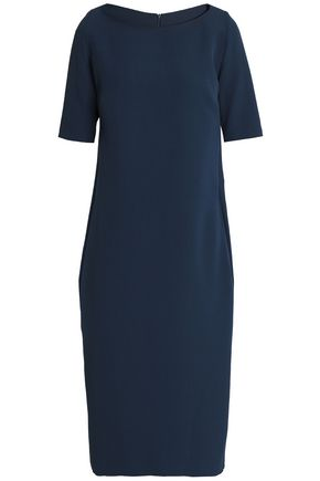 SAFIYAA Bow-detailed pleated crepe dress