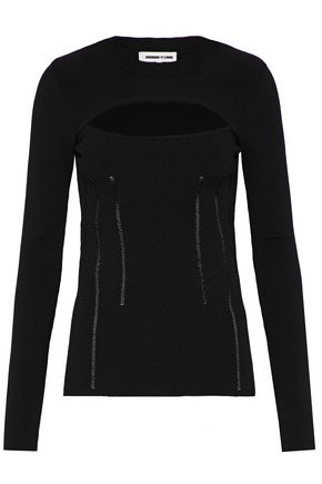 McQ Alexander McQueen Cutout open-knit top