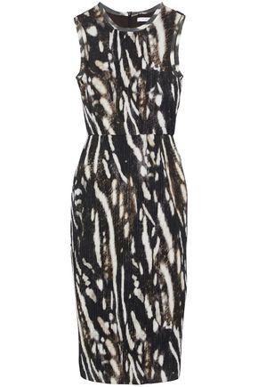 MAX MARA Nespola printed plissé-jersey dress