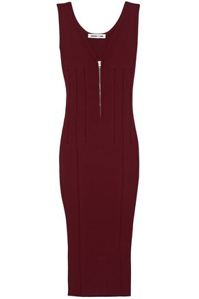 McQ Alexander McQueen Cutout open-knit midi dress
